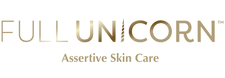 Full Unicorn - Assertive Skin Care gold logo